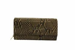 Pattern Ladies Leather Wallet, Compartments: 2