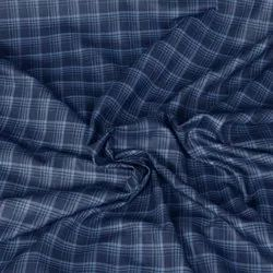 Cotton/Linen Blue Cotton Suiting And Shirting