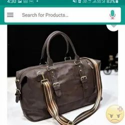 Plain Leather Duffle Bag, For Travel