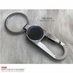 Round Black Hook Keychain Keyring