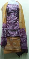 Shivam Creations Unstitched Designer Ladies Cotton Suit, Handwash