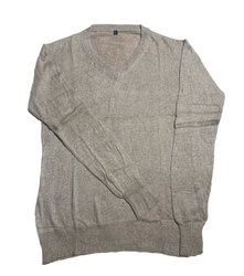V Neck Mens Plain Woolen Sweater