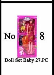 Plastic Baby Doll Set, For Kids