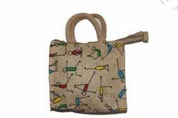 Short Cotton Padded Brown Fancy Jute Bag, Capacity: 10 Kg