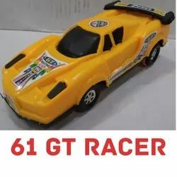 Yellow 61 GT Racer Plastic Toy Car, For Kids