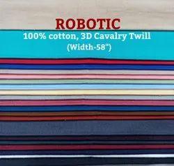Robotic 100% Cotton, 3D Cavalry Twill Shirting Fabric