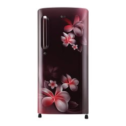 3 Star Dark Pink LG Single Door Refrigerator, Capacity: 165L