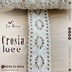 White Cotton Crosia Lace