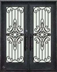 Modern Black Mild Steel Window, For Home