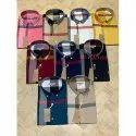Checks Collar Neck Mens Check Cotton Shirt, Machine Wash, Size: S-xxl