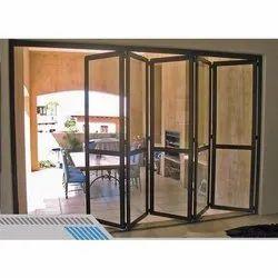 Designer Tempered Glass Folding Door
