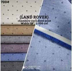 Land Rover Chambray Yarn Dyed Print Shirting Fabric