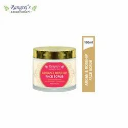 Rangrej''s Aromatherapy Argan & Rosehip Face Scrub For Radiant Glowing Skin 100ml