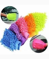 Microfiber Double Sided Dusting Cleaning Gloves / Mitt, Finger Type: Full Fingered