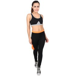 Polyester Spandex Plain GFCL-115 GFC Legging, Size: Medium
