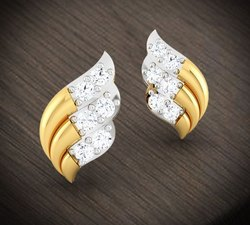 Gold Brass Saree Brooch Pin
