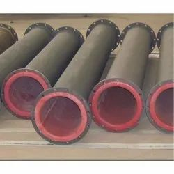 Black Mild Steel Rubber Lined Pipes
