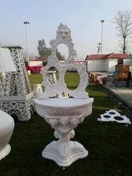 Fiber White Decorative Showpiece, For Wedding
