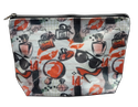 White Cosmetic Printed Bag