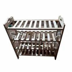 Brown Wooden Shoe Rack, Shoe Rack Capacity: 20 Kg, 4