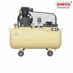 RMT-6S 1.5 HP 2 Cylinder Single Stage Air Compressor With 60 LTR Tank