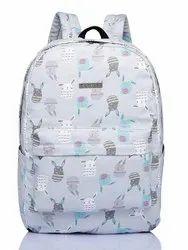 Light Blue Printed Caprese Ladies Backpack