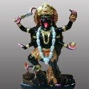 Goddess Maa Kali Black Marble Statue