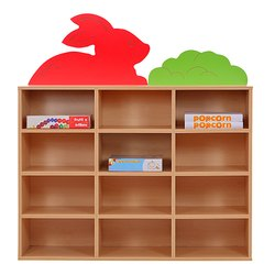 Bunny Printed School Storage Rack