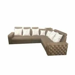 Modern Brown Leather Sofa Set, For Home