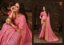 Pink Color Georgette Saree
