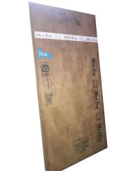 Blue Fox Brown Wooden Plywood Board, For Doors, Thickness: 2.5 mm