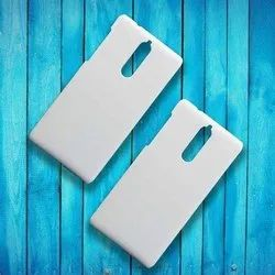 White Plastic Sublimation Blank Mobile Back Cover, For 3D Machine