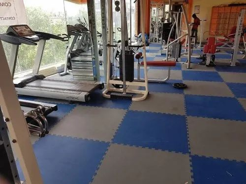 Natural Rubber Gym Floor Tiles, 1 m By 1 M