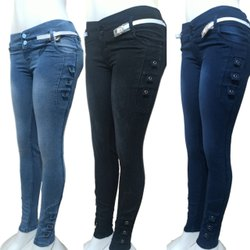 Slim Zipper And Button Ladies Designer Ladies Jeans, Waist Size: 28
