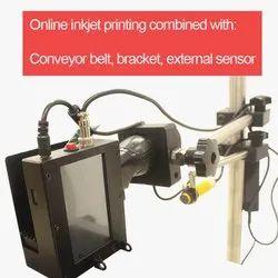 FULL SET Inkjet Printer Batch Coding Machine. Printer, Conveyor Belt, Stand, Sensor