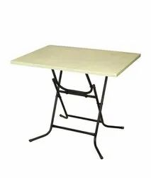 Wooden Cream Mild Steel Folding Table, For Home, Size: 33 X 22 Inch