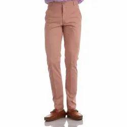 Finnoy Men Cotton Peach Color Trouser
