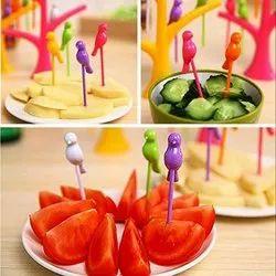 Plastic Baby Bird Fruit Fork, For Home