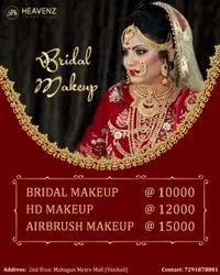 Basic Manually Bridal Makeup, Heavenz Unisex Salon