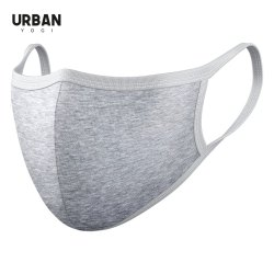 Black Grey Cotton Face Mask Solid Colours Urban Mask