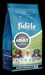 Dry Solid Fidele Adult Large, chicken and rice, Quantity Per Pack: 4kg