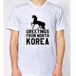 Plain Round Mens Cotton T Shirt