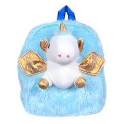 3D Soft Backpack For Kids Boys Girls Lightweight School Unicorn Plush Picnic Fur Bag (Age:2-6,) 10 L