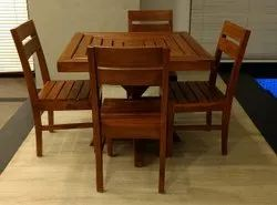 4 Seater Wooden Dining Table Set, For Hotel,Restaurant