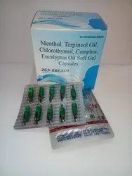 Menthol, Terpineol Oil, Chlorothymol, Camphor, Eucalyptus Oil Softgel Capsules