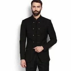 Black Plain Mens Party Wear Jodhpuri Suit, Size: 32 - 44