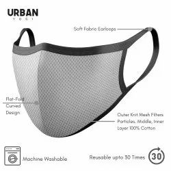 Urban Mask Mesh Pro Flat Fold Anti Pollution Dust Mask Filters Tiny Particles