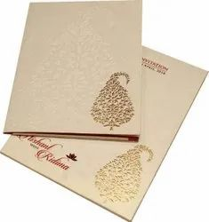 Paper Wedding Card Printing, in India, Size: A4