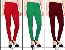 BG COMFORT Churidar Cotton Lycra Leggings, Size: Free Size