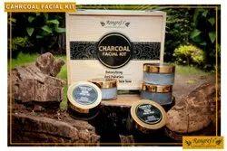 Rangrej's Aromatherapy Charcoal Facial Kit For Detoxifying,Refines Skin Tone (5 Steps x 50gm)